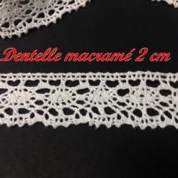 Dentelle Macramé En 2 Cm Blanc A Coudre Pour Customisations.s
