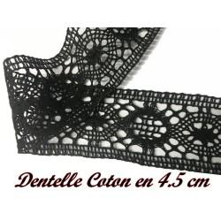Galon Dentelle Macramé Au Mètre En 4,5 Cm Noir, A Coudre.