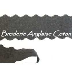 Broderie Anglaise Coton au Mètre en 6 cm Grise A Coudre.