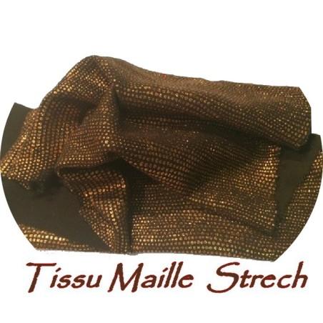Tissu Lycra lurex En 1.50 m De Couleur Bronze Cuivre A coudre