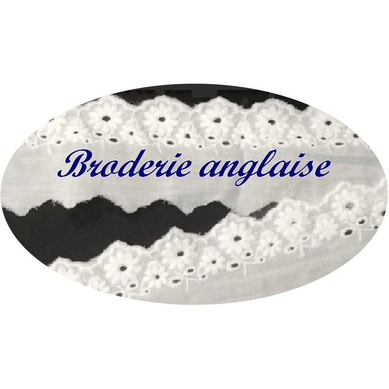 Broderie Anglaise Coton En 5 Cm Blanche A Coudre Pour Loisirs Créatifs