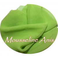 Tissu Mousseline Polyester Anis A Coudre.