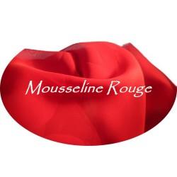Tissu Mousseline Polyester Au Mètre Rouge A coudre.