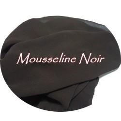 Tissu Mousseline Polyester Au Mètre Noir A Coudre.