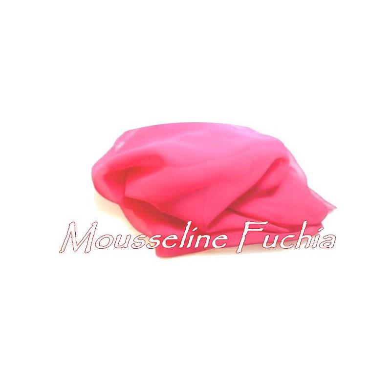 Tissu Mousseline Polyester Fushia A Coudre.