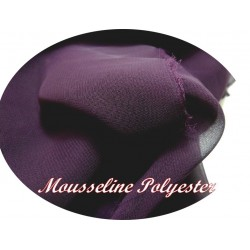 Tissu Mousseline Polyester Violet A Coudre.