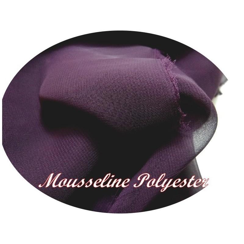 Tissu Mousseline Polyester Violet A Coudre.