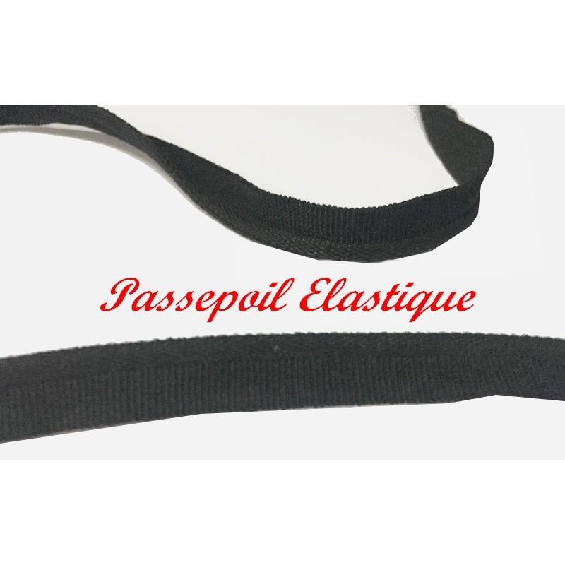 Passepoil Elastique Lycra En 1 Cm, Noir Pour Lingerie, et Customisations.