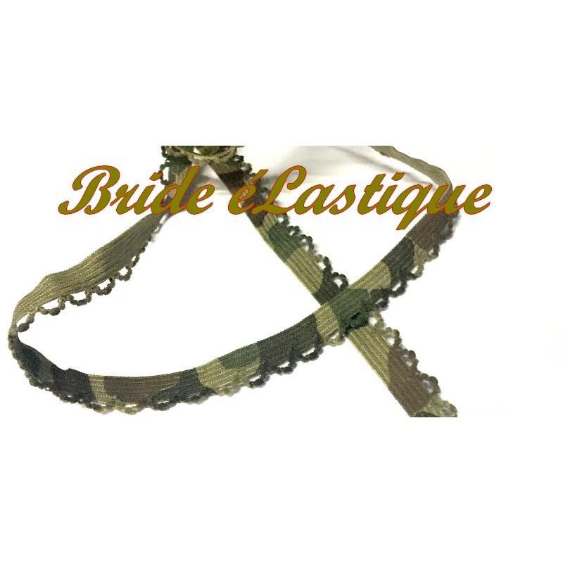 Galon A Bride élastique A Coudre. En motif Militaire Pour Lingerie Et Customisations De Vetements