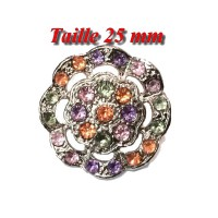 Bouton Strass A Coudre En Taille 25 mm A Coudre Pour Customisations