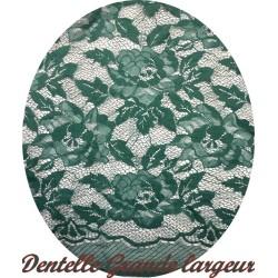 Dentelle Au Mètre En Grande Largeur Couleur Vert Emreraude Pour Customisations Et Décorations.