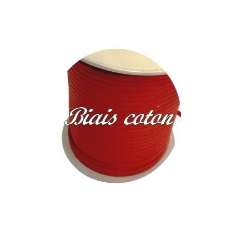 Biais Replié EnTissu Coton Rouge a Coudre Pour Loisirs Créatifs.