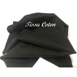 Tissu En Coton Noir Au Mètre En Grande Largeur