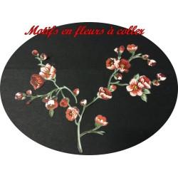 Patch Applique Couture En Motifs Fleurs Rouge Thermocollant Pour décorations De Vêtements Et Loisirs Créatifs