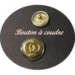 Bouton Style Cartier Doré En Taille 22 mm A Coudre Pour Tailleurs Et robes