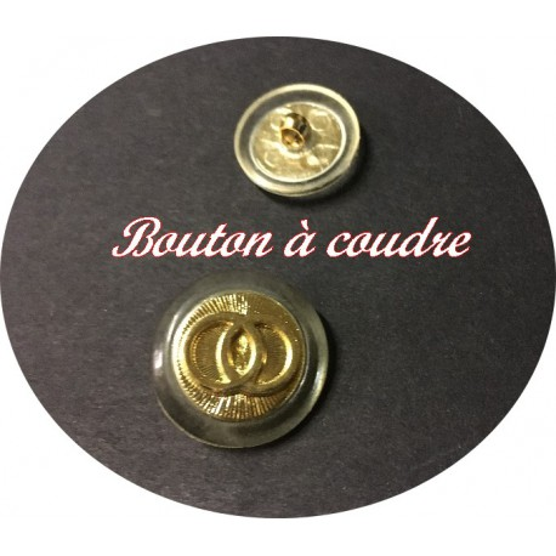 Bouton Style Cartier Doré En T.18 mm A Coudre Pour Tailleurs Et robes