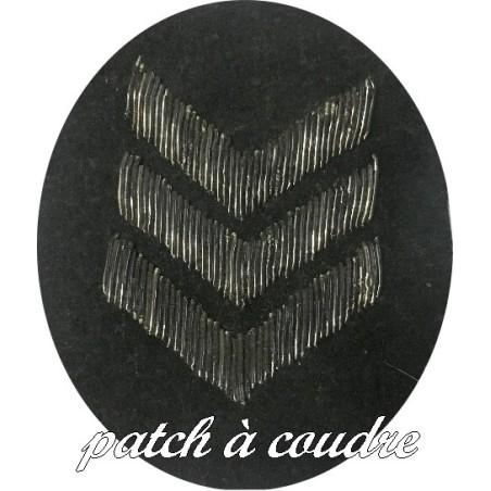 Ecusson EPaulette Emblème Militaire Sur Tissu feutrine Noir A Coudre