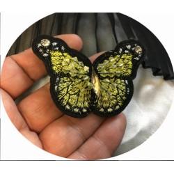 Patch Brodé A Coudre En Forme De Papillon pour Décorations Et Customisatiions.