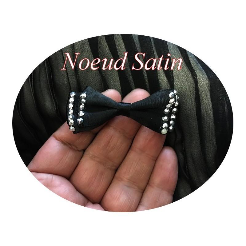 Noeud Papillons En Satin Noir A Coudre Pour Décorations Et Customisations