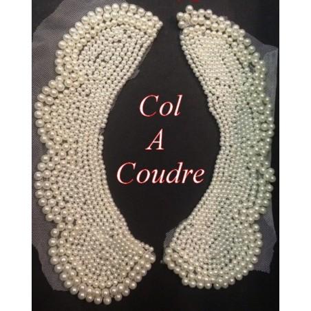 Col Claudine A Coudre En Perle De Culture Blanc