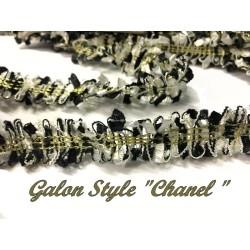 """Galon Au Mètre Noir Et Blanc Style """" Chanel"""" A Coudre"""