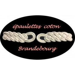 Brandebourg Attaches Epaulettes En Coton De Couleur Ecru A Coudre Pour Décorations Robes, sacs, Customisations.
