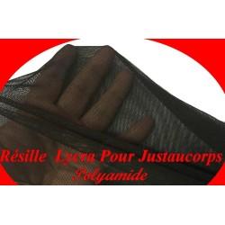 Tulle Résille Elastique Au Mètre en Couleur Noir Pour Justaucorps.