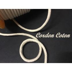 Cordon Fil Lacet Au Mètre Coton en 5 mm Tressé Pour Loisirs Créatifs Et Attaches