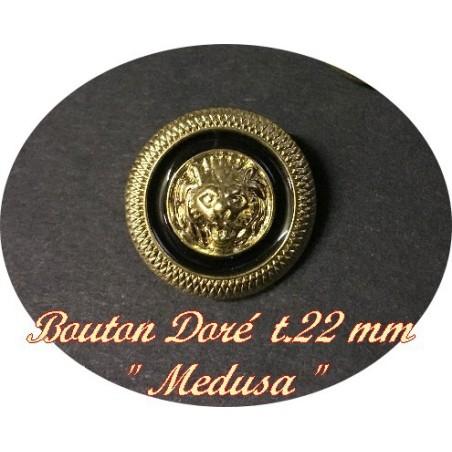 """Bouton Doré Noir Style """" Versace """" à Coudre En Taille 22mm Pour Customisationsde vfetements."""