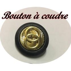 """Bouton Style """" Cartier """" Doré Extérieur Noir En Taille 15 mm Et 22 mm A Coudre Pour Tailleurs Et Robes"""