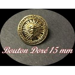 """Bouton Doré A Coudre Style """" Versace """" En Taille 15 mm."""