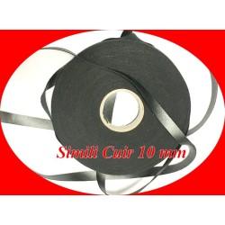 Ruban Simili Cuir Au Mètre En 10 mm Mat Noir A Coudre Pour Vetements Décorations