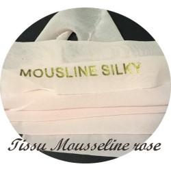 Tissu Mousseline Silky Au mètre Coloris Rose Pour La Couture.
