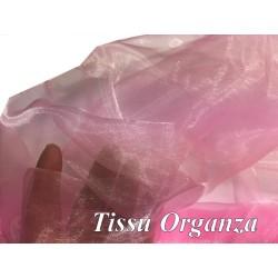 Tissu Organza Polyester Au Mètre Coloris Rose Pour La Couture Et La Décoration