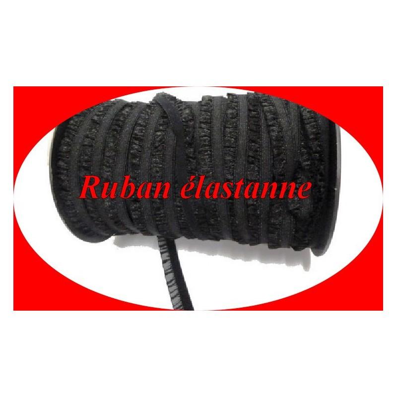 Galon Ruban Organza Lycra En Noir En 2 Cm A Coudre.