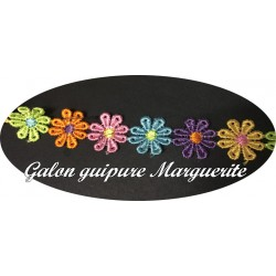 Galon Guipure Marguerite Au Mètre Multicolor Pour la Customisations De vetements.