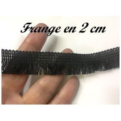 Frange Noir au Mètre En 2 cm - Frange Charleston Pour Réalisation Et Décorations De Vetements Et Loisirs Créatifs