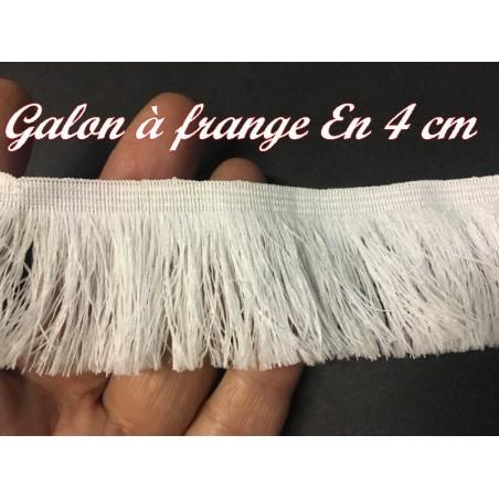 Frange Charleston au Mètre Blanche En 4 cm - Galon A Frange Pour Loisirs Créatifs