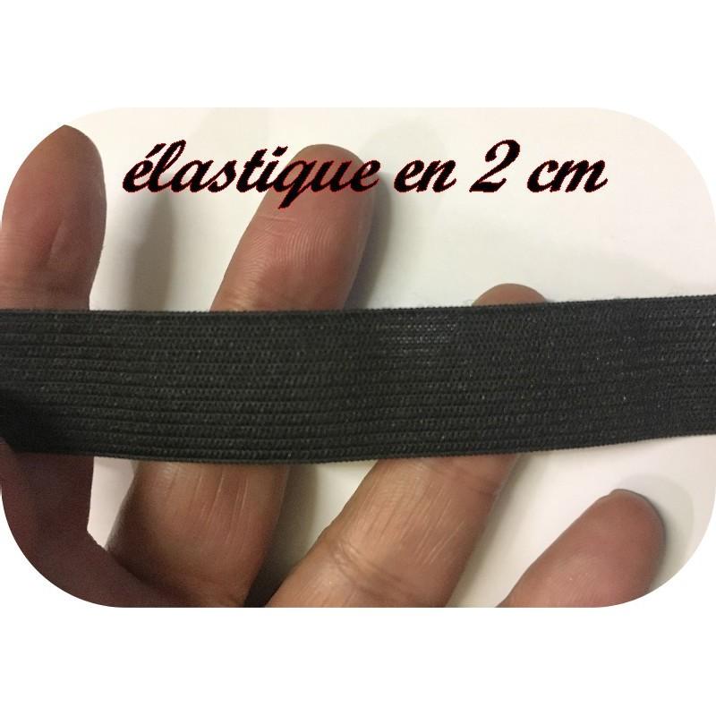Elastique Plat Au Mètre en 20 mm Noir Pour La Couture