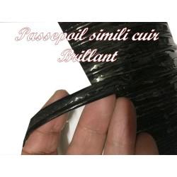 Ruban Passepoil Simili Cuir Vinyl Noir Au Mètre Couture.