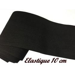 Elastique Plat Au Mètre en 10 Cm Noir Et De 10 Cm Largeur Pour La Couture.