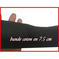 Ruban Sergé Au Mètre En Grande Largeur De 7,5 Cm Noir En Coton A Coudre Pour Loisirs Créatifs Et Décorations.