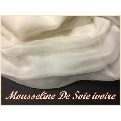 Tissu Mousseline de Soie IVOIRE Au Mètre Couture.