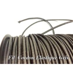 Cordon Lacet Elastique Gris Rond En 3 mm A Coudre Pour Loisirs Créatifs.