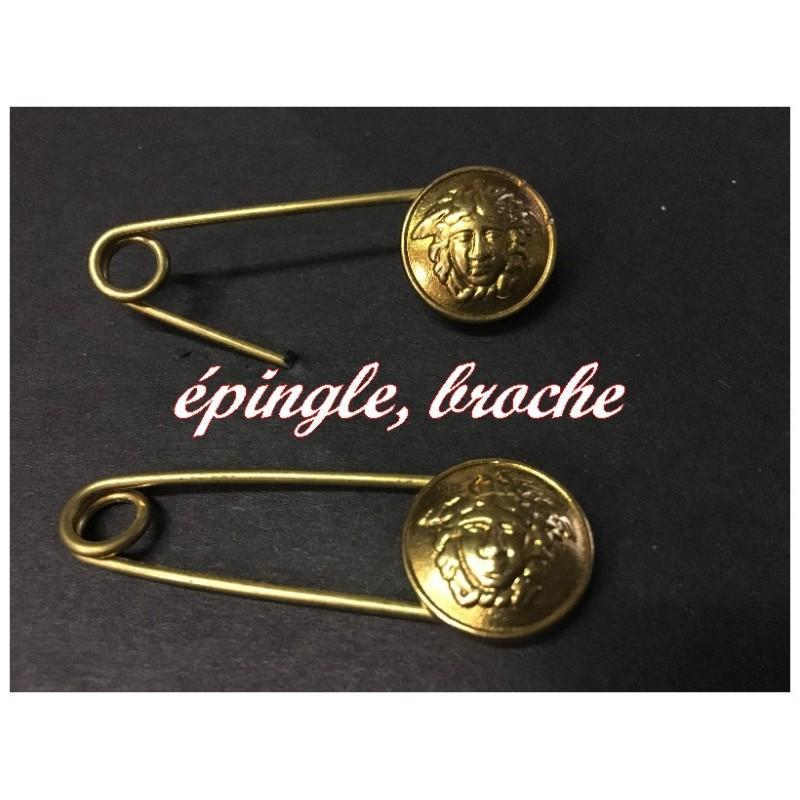 Epingle Doré, Broche En Motif Style Versace Medusa Tete Pour Décorations