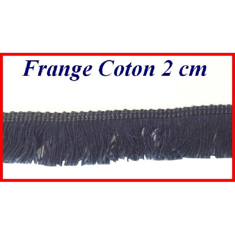 Frange Au Mètre En Coton 2 Cm Marine