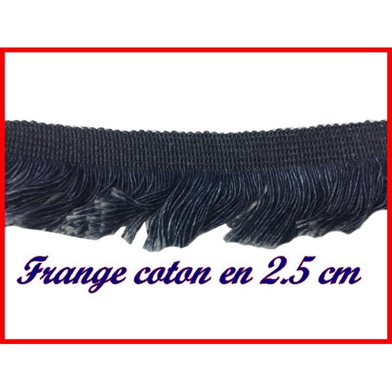 Frange En Coton En 2,5 Cm Marine Indigo Pour Décorations De Vêtements