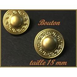 """Bouton Doré Style """" Versace """" à Coudre En Taille 18 mm Pour Customisationsde Vetements."""