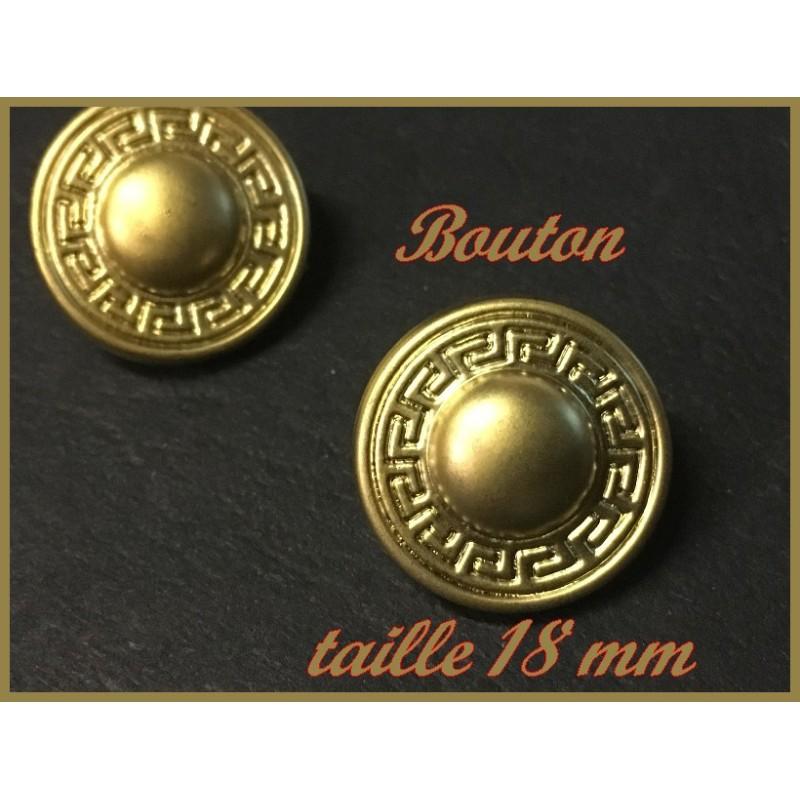 """Bouton Doré Style """" Versace """" à Coudre En Taille 18 mm Pour Customisationsde vfetements."""