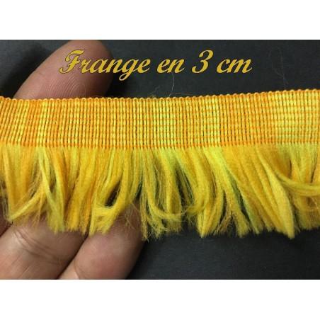 Frange A Coudre En 3 Cm Jaune Orange Pour Décorations De Vêtements